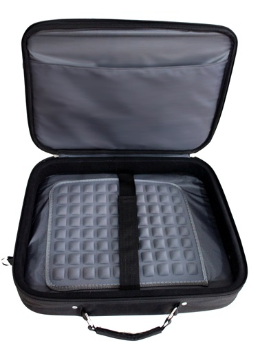 Km900-G 15.6  Hard Kasnaklı Laptop Çantası Gri-M&W
